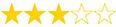 puntuación 3 estrellas