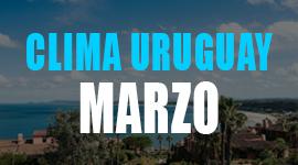 clima uruguay marzo