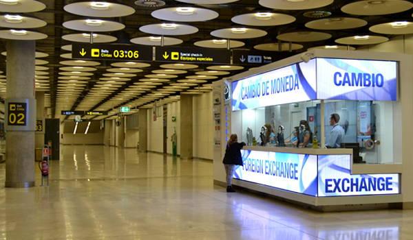 casa de cambio en el aeropuerto