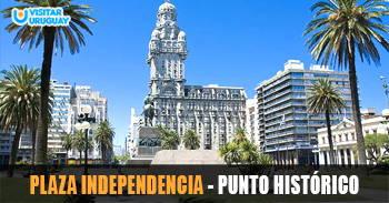 plaza indpendencia punto histórico de montevideo